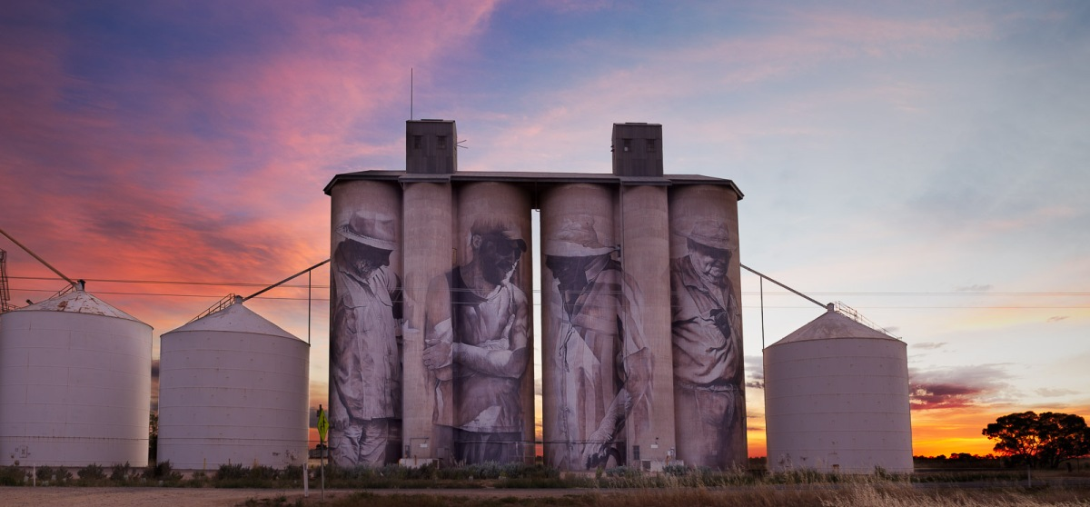 Brim Silo sunrise