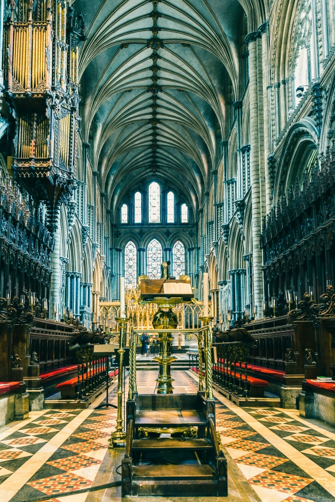 The choir Gallery of Ely Cathedral